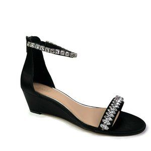 Badgley Mischka Jewel Black Mel Wedge Sandal